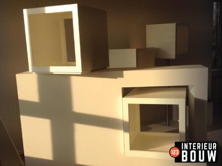 HPL Kunststof Interieur Bouw presentatie meubel