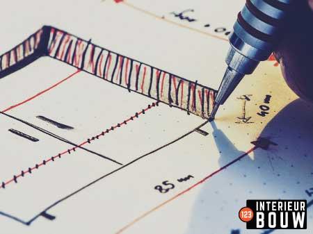 Ontwerp-2d-interieur-bouw-papier-digitaal