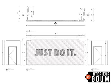 2D Tekening Ontwerp Interieur Bouw