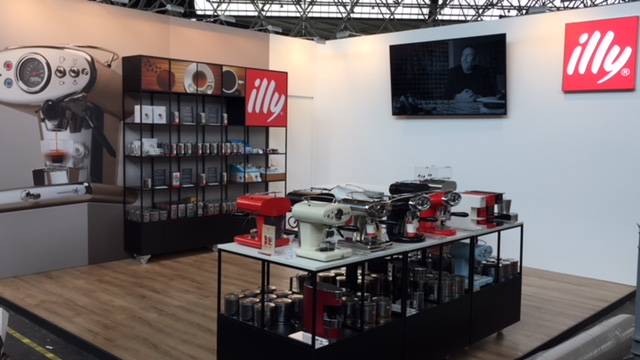 Koffie illy beurs evenement
